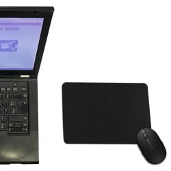 Mouse Pad Preto Retangular - 21x15cm