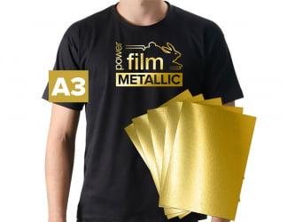 Power Film Metallic - OURO - A3 - pacote com 5 folhas