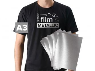 Power Film Metallic - PRATA - A3 - pacote com 5 folhas