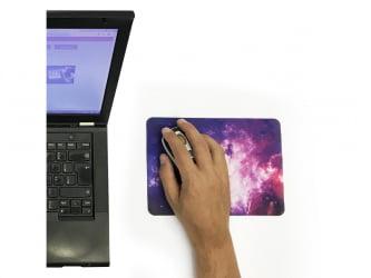 Combo - Mouse Pad em Branco para Sublimação 21x15cm 10un + 100 Folhas de Papel Transfer A4