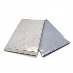 Combo - Quebra Cabeça em Branco para Sublimação 60 peças com 10un + 100 Folhas de Papel Transfer A4