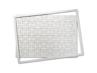 Quebra Cabeça em Branco - 50un + 50 Fls de Papel Transfer